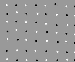 Black and white dot design