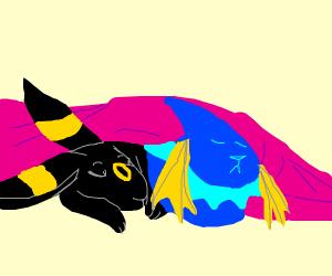 Vaporeon & Umbreon Sleeping