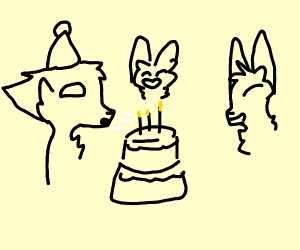 a furry's birthday party