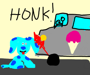 Blue Gets Hit By Ice Cream Truck