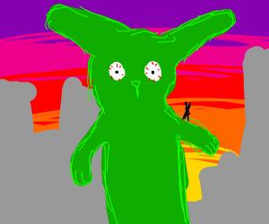 killer green rabbit.