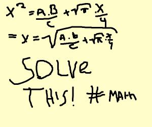 Complex mathe equation