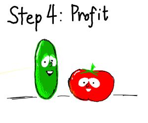 Step 3: Start a Christian show w/ a cucumber