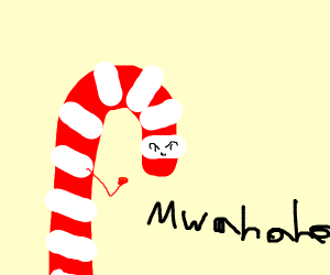 Candy canes evil plan is working mwahahah