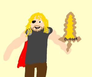 Thor with BUDDER sword