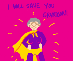 Super Grandma saves grandson