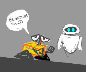 Wall-E warns Eve