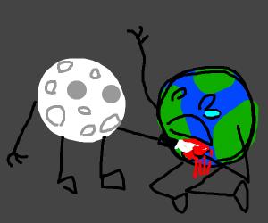 Moon kills Earth