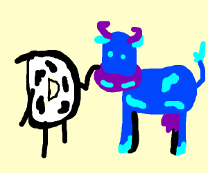 drawception cow