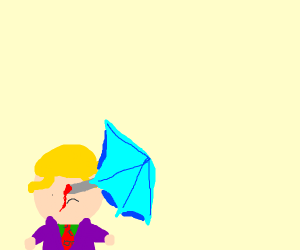 Kira Yoshikage got killed by an umbrella