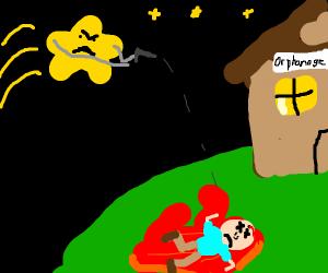 shooting star kills an orphan