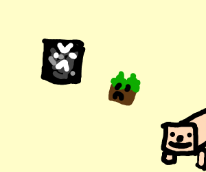 obsidian block hates grass due to lack of gr