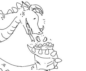 dragon enjoys chips