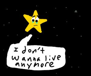 A suicidal star