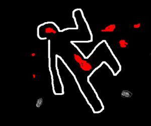 Outline of a murder victim