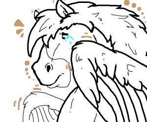 pegasus is really sad