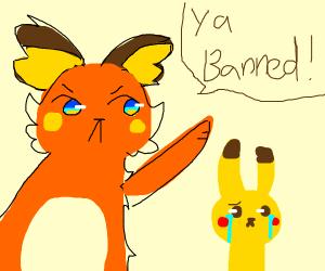 Raichu bans Pikachu