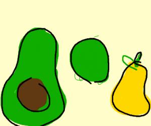 Avocado Kiwi Pear