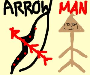 arrow guy and bow and arrow