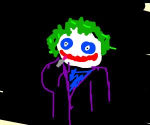 The Joker uses lipstick
