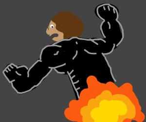 Hugh Assplosion (new superhero)