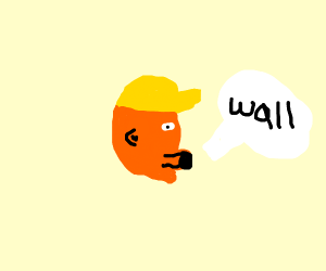 Donald Trump saying Wall