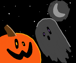Pumpkin fights Ghost