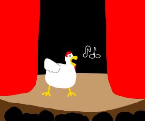 chicken is singing
