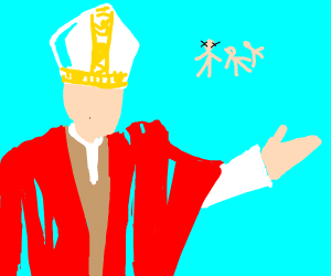 The pope approves mass murder