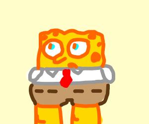 Spongebob grew some thicc hips.