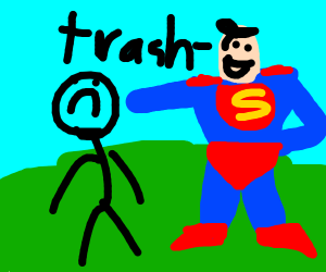 Superman flexes on the normie humans