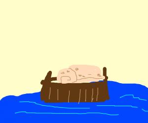 Burrito on A Boat
