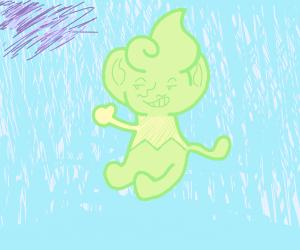 Green Pansear Pokemon