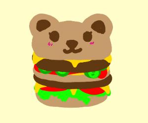 a bear burger