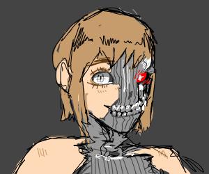 Cyborg lady.