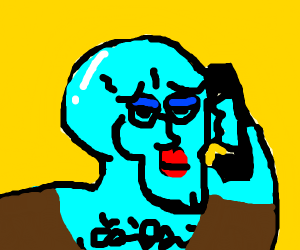 Handsome Squidward Answers the Phone