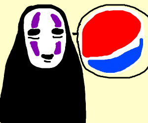 Mr No Face wants you to drink Pepsi Cola