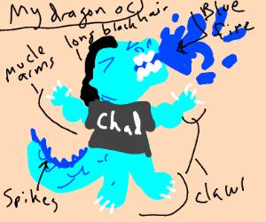 Chad the horrifying dragon OC....