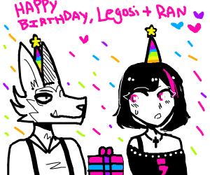 legosi and ran have a birthday