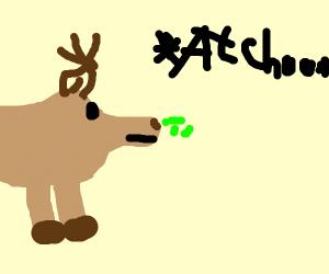Deer Sneezing