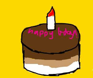 b day cake