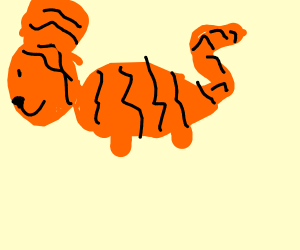 Tiger with big ears and stubs for legs