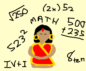 Indians are good at math