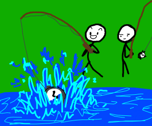 People fishing for time
