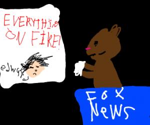 Gopher reading news on Fox News