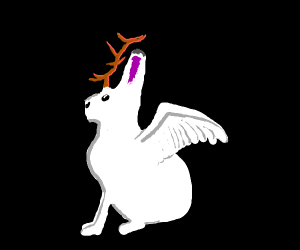 Winged jackalope