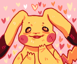 Pikachu has very long ears