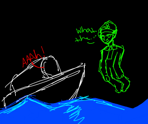 Ship is scared of ghost sailor