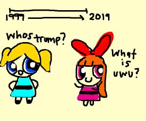 the powerpuff girls enter a time vortex