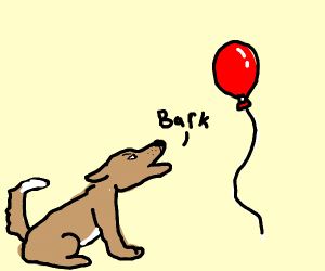Dog hates red balloon